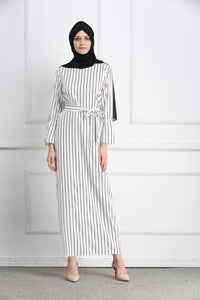 Tasha Simplicity Stripy Crispy Modest Dress