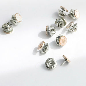 Channel Inspired 10pcs/lot Imitation Pearl Circle Brooch Pins Accessories