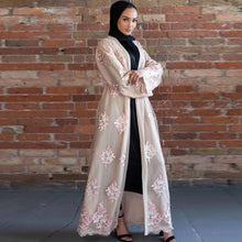 Load image into Gallery viewer, Lace Abaya Kimono