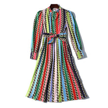 Load image into Gallery viewer, 2020 Runway Multi Color Midi Dress