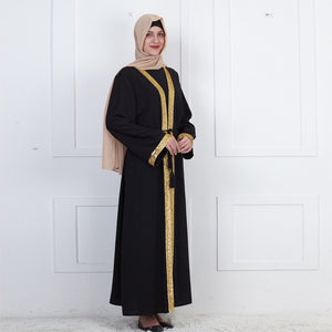 Rashida Arabia Gold Panel Abaya