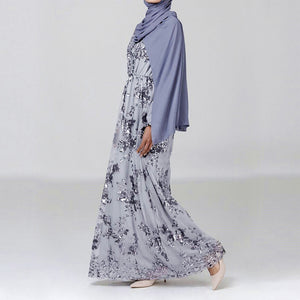 Maniqah Sequined Modest Dress
