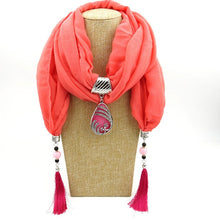 Load image into Gallery viewer, Multi-style Decorative Jewelry Hijab Loop Shawl