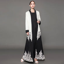 Load image into Gallery viewer, D&G Zeena Inspired Royal Lace Abaya Cardigan Plus Size Available