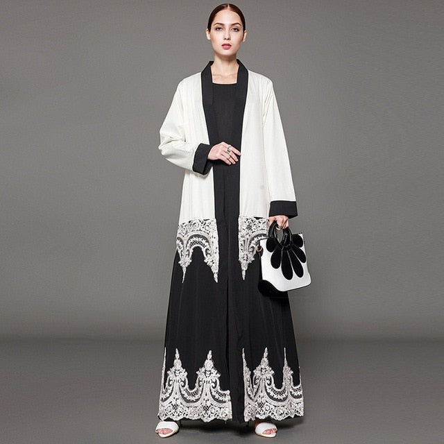 D&G Zeena Inspired Royal Lace Abaya Cardigan Plus Size Available