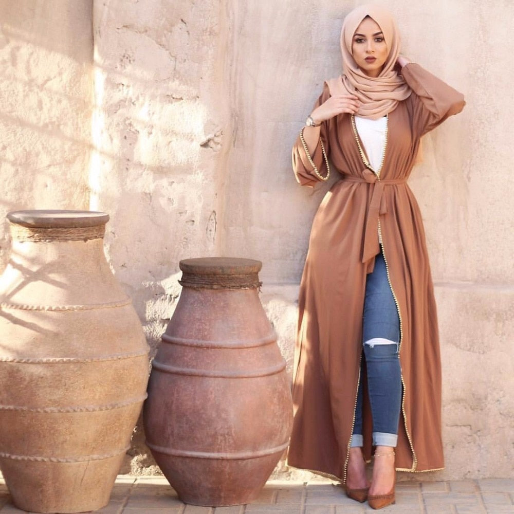 The Princess Beaded Cardigan Abaya