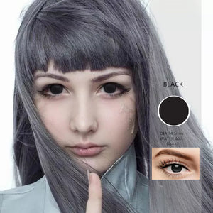 2pcs /1 Pair  Large Diameter Cosplay Contact Lens Sclera Color Contact Lenses for Halloween