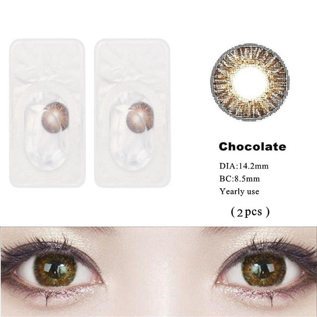 3 Tone Cosmetic Brilliant Colored Contact Lens