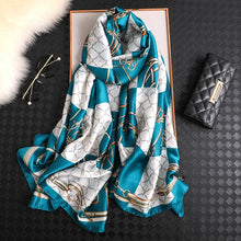 Load image into Gallery viewer, Luxury Designer Silk Hijab Shawl