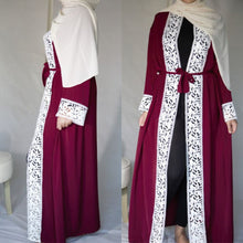Load image into Gallery viewer, Laced Abaya Kimono
