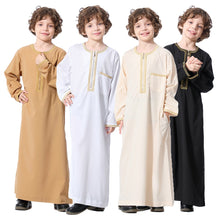 Load image into Gallery viewer, Embroidered Saidi Kids Boys Abaya Jubba Thobe Thawb