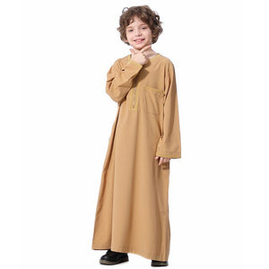 Embroidered Saidi Kids Boys Abaya Jubba Thobe Thawb