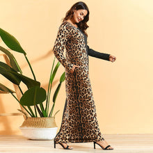 Load image into Gallery viewer, Mama Sita Cheetah Print Modest Modern Dress