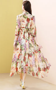 Dolce Gabanna Inspired Runway Midi Floral Dress