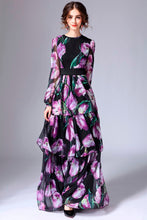 Load image into Gallery viewer, Spring Floral Runway Long Dress Plus Size Available