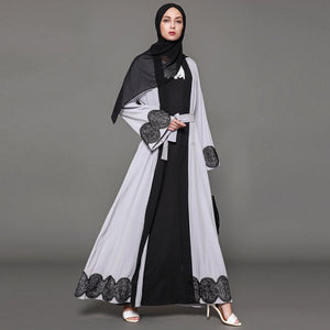 D&G Inspired Zeeba Royal Lace Cardigan Abaya Plus Size Available