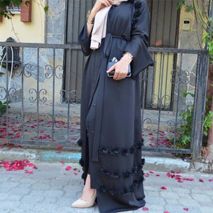 Amria 3D Detailing Cardigan Abaya Plus Size Available
