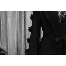Load image into Gallery viewer, Amria 3D Detailing Cardigan Abaya Plus Size Available
