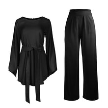 Load image into Gallery viewer, 2 pc Style Modern Pansuit Set with Sash