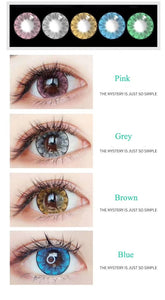 2Pcs/1Pair Big Plum Series Color Contact Lens for Dark Eyes