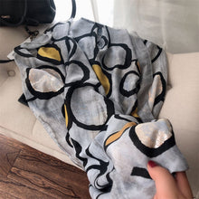 Load image into Gallery viewer, 2020  Autumn Lurex Printed Wide Shawl Hijab