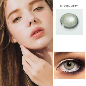 2pcs /1 Pair European Series Colored Contact Lenses for Dark Eyes
