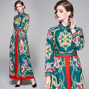 Runway Oriental Maxi Long Dress