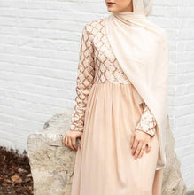 Load image into Gallery viewer, Sequins Turkish Long Modest Dress