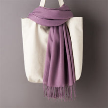 Load image into Gallery viewer, Cashmere Plain Pashmina Hijab
