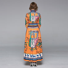 Load image into Gallery viewer, Runway Coach Floral Maxi Long Dress