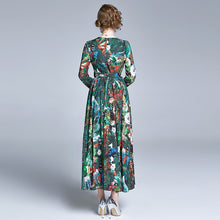Load image into Gallery viewer, Runway Floral Printing Long Chiffon Beach Dress
