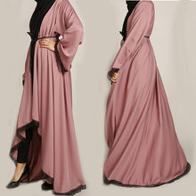 Load image into Gallery viewer, Caria Lace Asymmetrical Modern Abaya