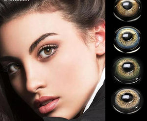 1 Pair(2pcs)  IRIS Series  Coloured  Contact Lenses for Dark Eyes