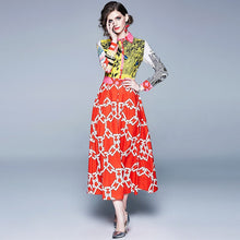 Load image into Gallery viewer, Patchy Runway Multi Print Midi Tunic Dress