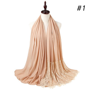 10 pc/lot Bubble Chiffon Lace Crystal & Pearl Shawl