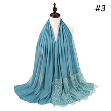 Load image into Gallery viewer, 10 pc/lot Bubble Chiffon Lace Crystal & Pearl Shawl
