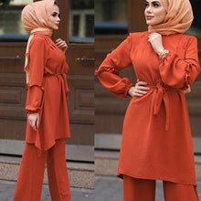 Load image into Gallery viewer, Feena Two Piece Simplicity Flare Pantsuit