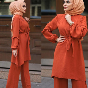 Feena Two Piece Simplicity Flare Pantsuit