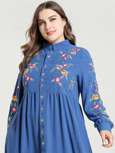 Load image into Gallery viewer, Tatyana Embroidery Modest Dress Plus Size Available