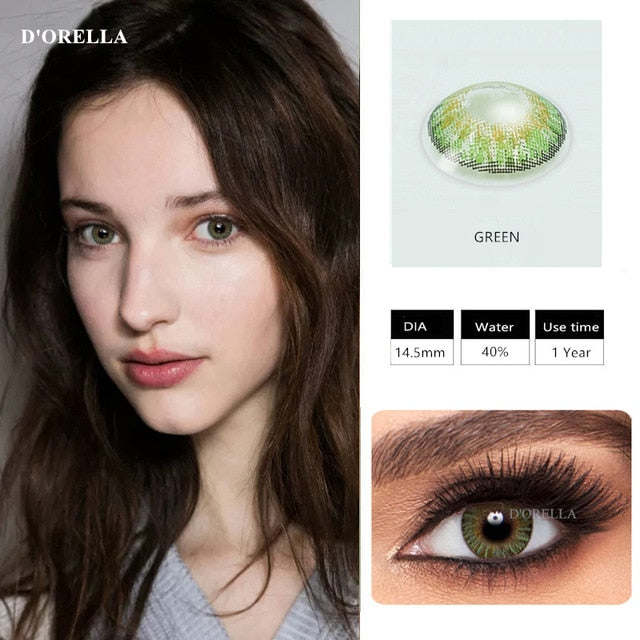 3 Tone Brilliant Colored Contact Lenses  for Dark Eyes