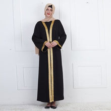 Load image into Gallery viewer, Rashida Arabia Gold Panel Abaya