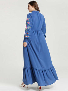 Tatyana Embroidery Modest Dress Plus Size Available