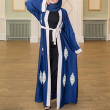 Load image into Gallery viewer, Anitha Royal Blue Appliques Cardigan Abaya