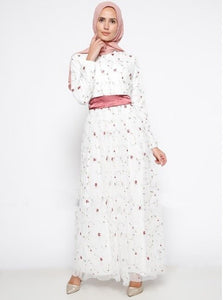 Lily Tiny Floral Lace Modest Dress