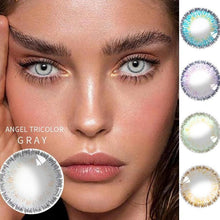 Load image into Gallery viewer, 2pcs/pair Angel Tricolor Ring Series Prescription Colored Contact Lenses for Dark Eyes