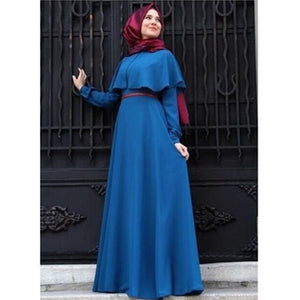 Caped Modest Dress