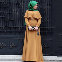 Load image into Gallery viewer, Caped Modest Dress