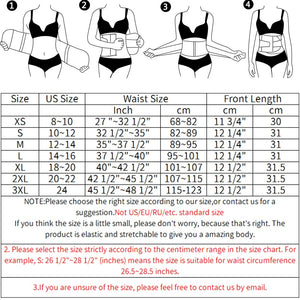 Waist Trainer Shapewear 9 &13 Steel Bones