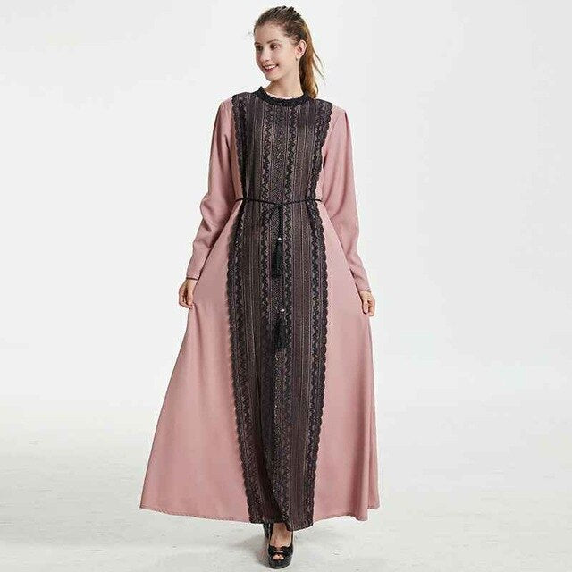 Shisa Lace Panel Modest Dress