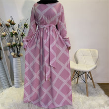 Load image into Gallery viewer, Lace Printed Elegant Modest Dress